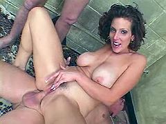 Milf gets dicks in all of her holes
