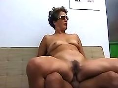 Mature is poked in ass