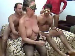 Lusty granny prefers numerous cocks