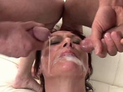 Mature fucks in orgy n gets facials