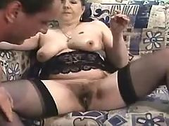 Chubby elder mom gets cock in cunt