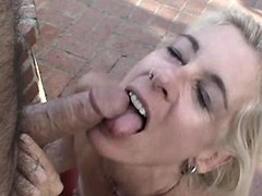 Mature has oral n fucks from behind