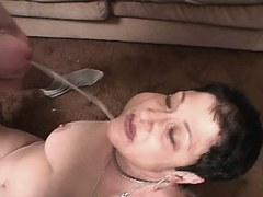 Chubby mature fucks and gets facial