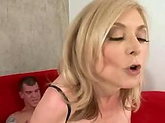 Blond milf gets fucked in doggy style