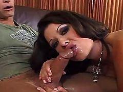 Milf gets fuck in all holes in orgy
